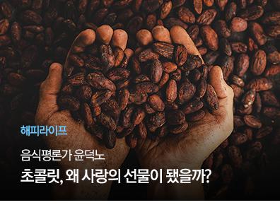 [해피라이프] 음식평론가 윤덕노 초콜릿, 왜 사랑의 선물이 됐을까?