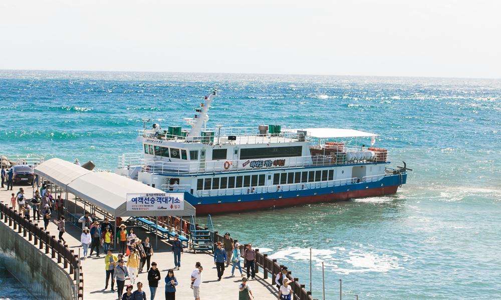 마라도행 여객선 선착장